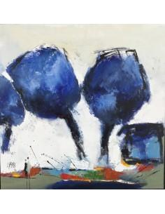 Arbres bleus