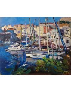 Le port à Menorca