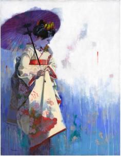 Maiko à l'ombrelle